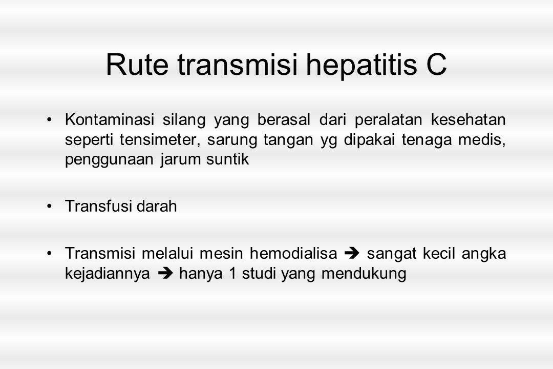 Rute transmisi hepatitis C