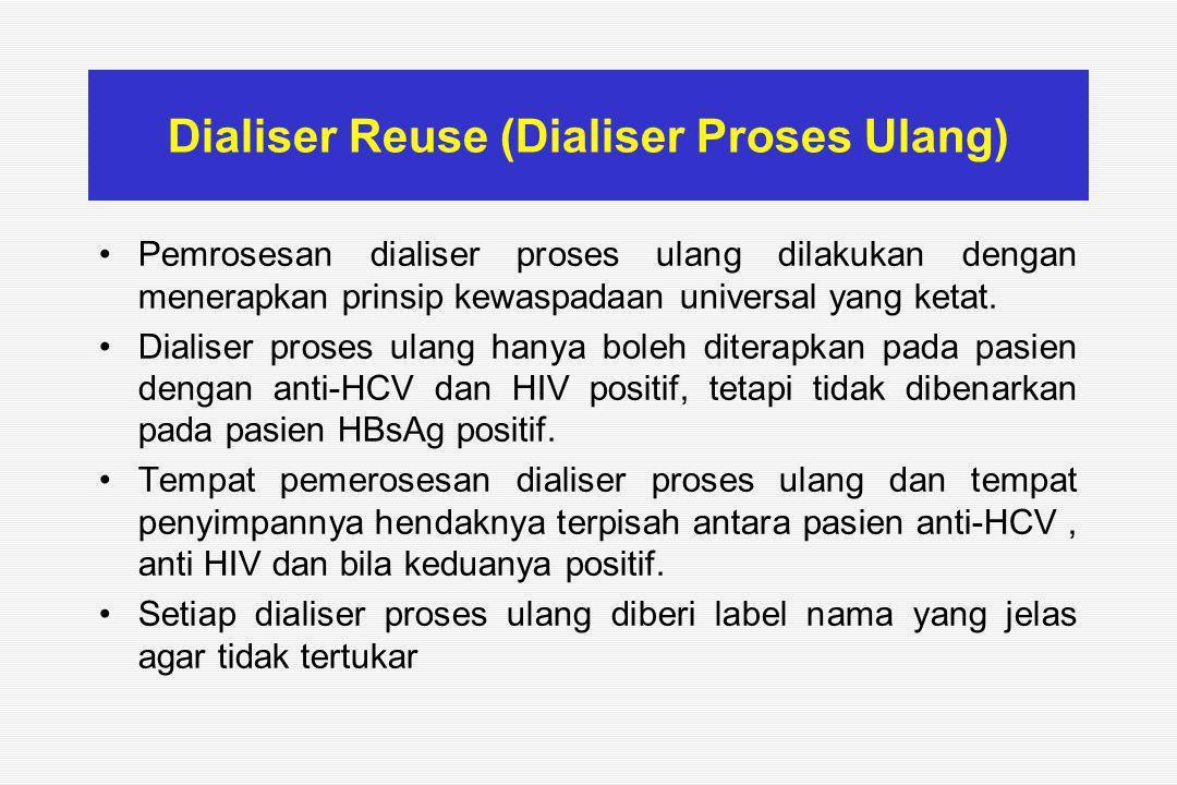 Dialiser Reuse (Dialiser Proses Ulang)
