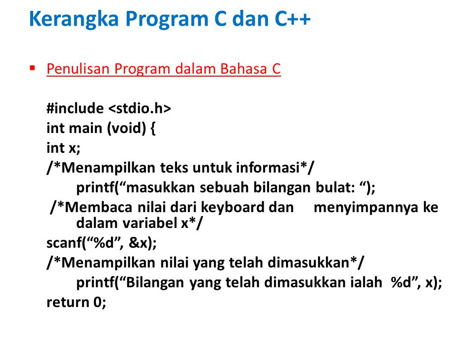 Kerangka Program C dan C++