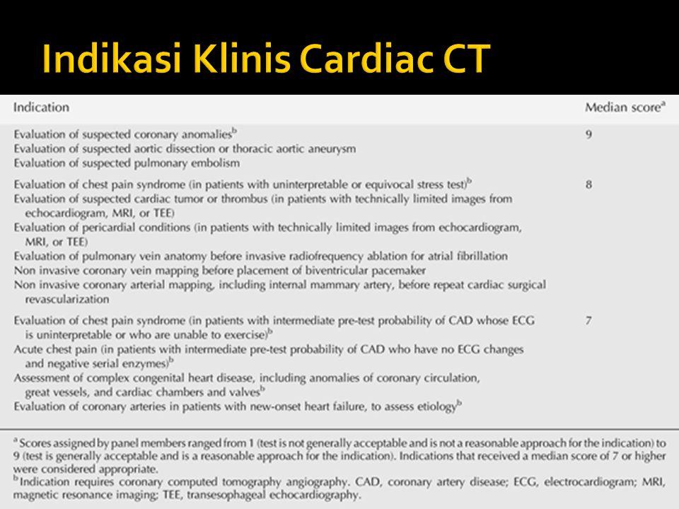 Indikasi Klinis Cardiac CT