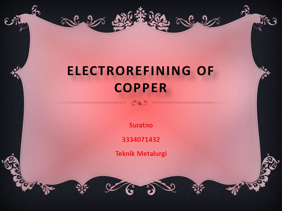 Electrorefining of copper