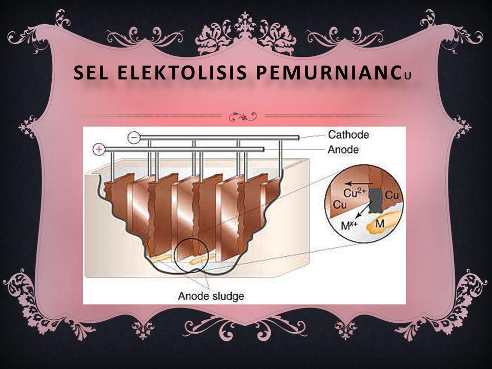 Sel elektolisis pemurnianCu