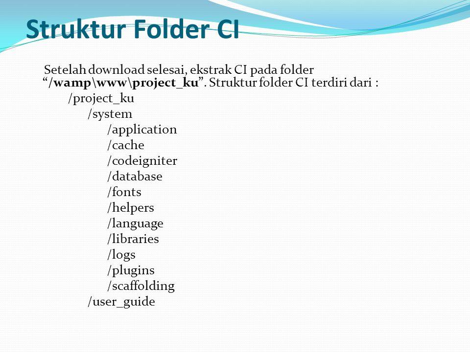 Struktur Folder CI