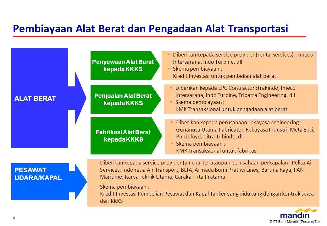 Pembiayaan Alat Berat dan Pengadaan Alat Transportasi