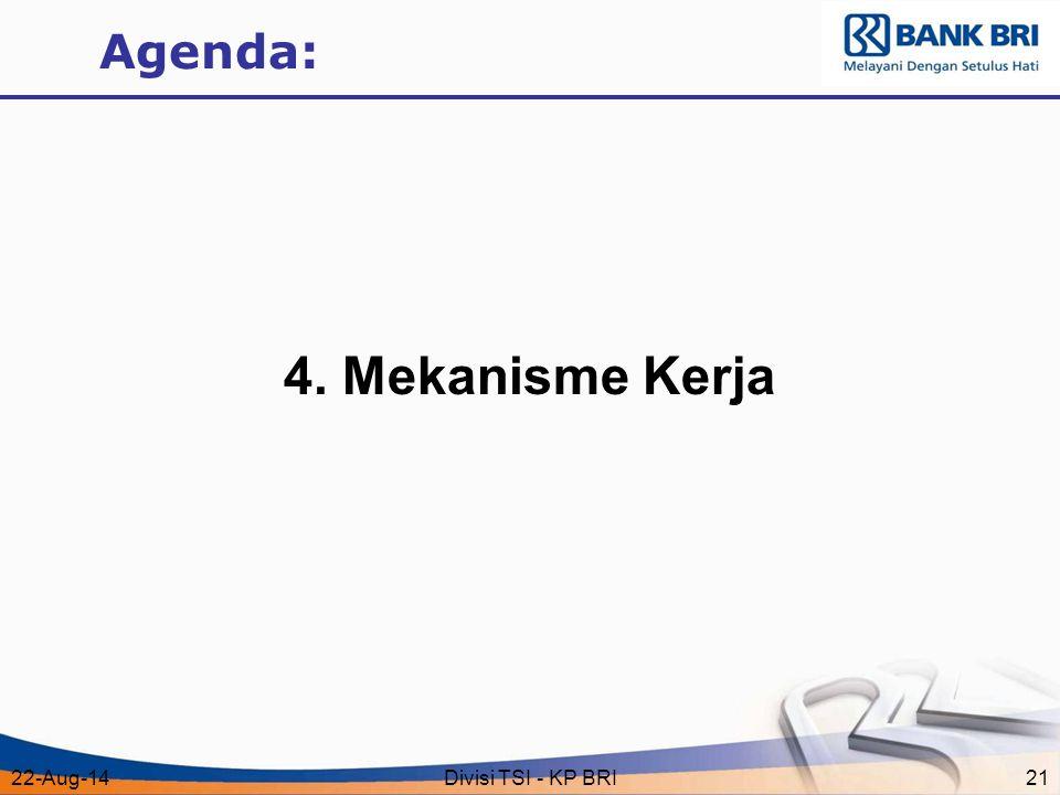 Agenda: 4. Mekanisme Kerja 5-Apr-17 Divisi TSI - KP BRI