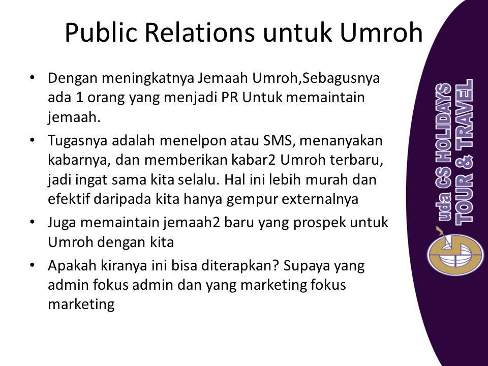 Public Relations untuk Umroh