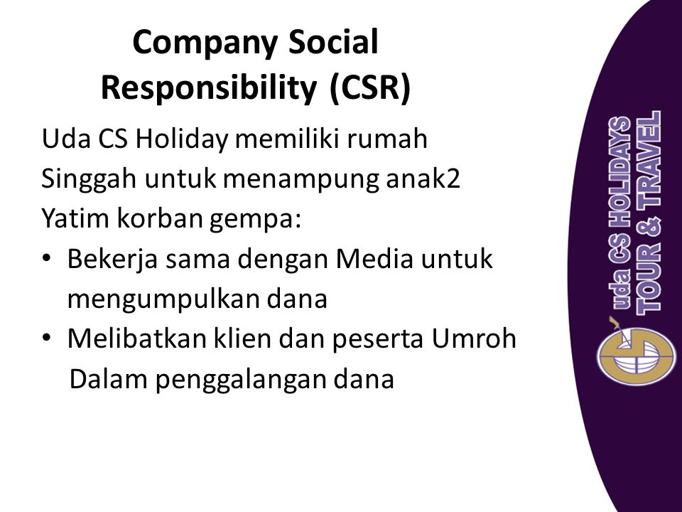 Company Social Responsibility (CSR)