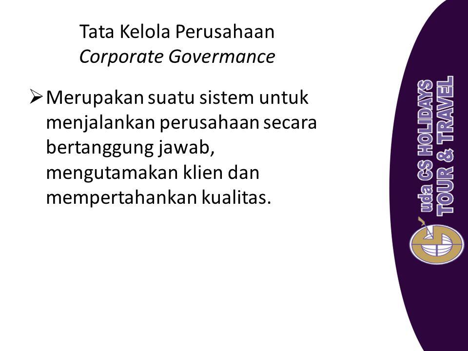 Tata Kelola Perusahaan Corporate Govermance