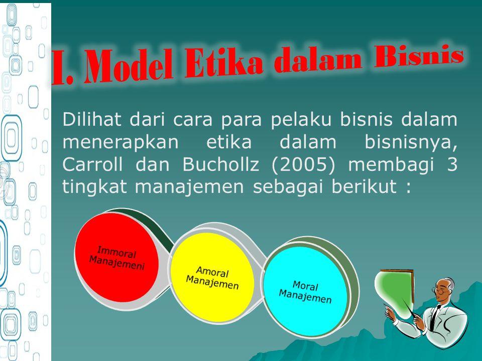 I. Model Etika dalam Bisnis