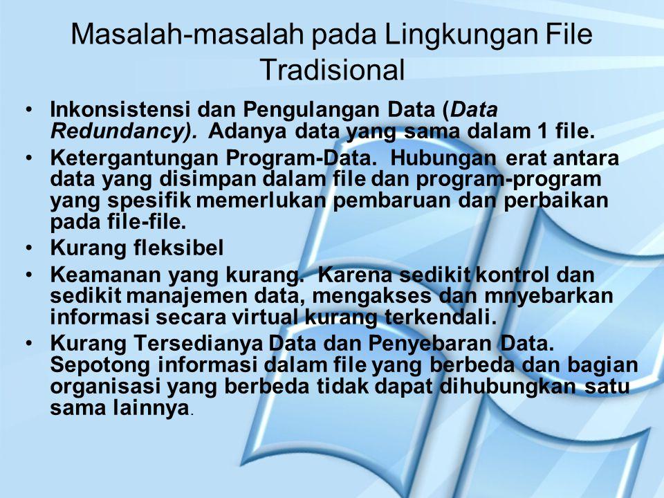 Masalah-masalah pada Lingkungan File Tradisional
