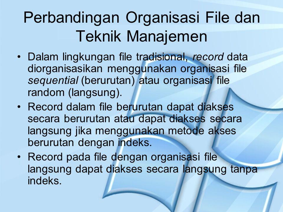 Perbandingan Organisasi File dan Teknik Manajemen