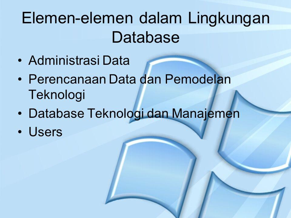 Elemen-elemen dalam Lingkungan Database