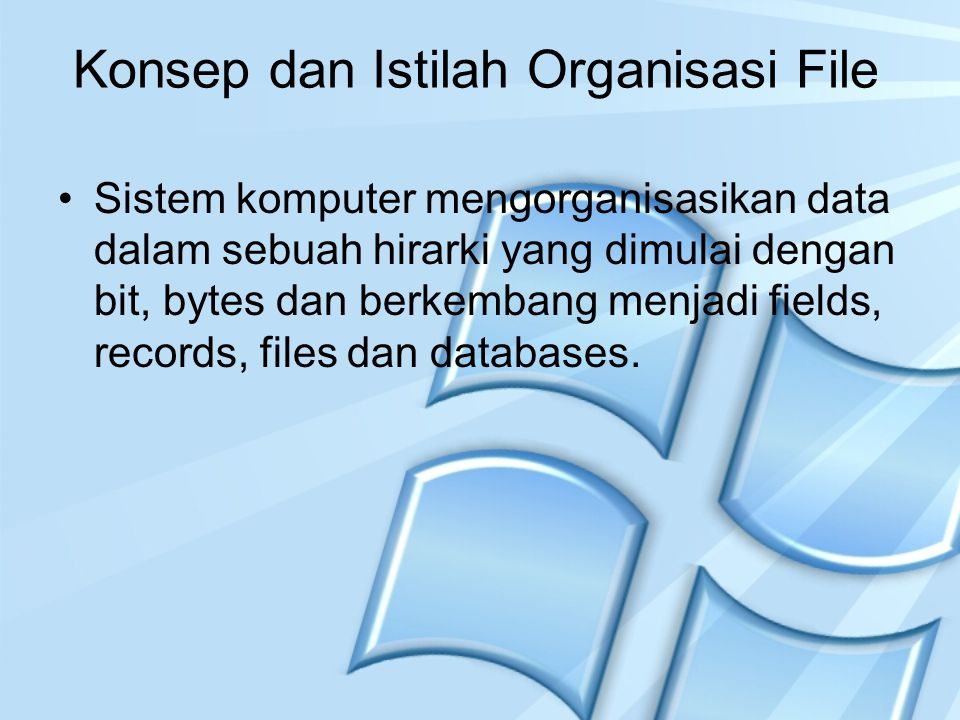 Konsep dan Istilah Organisasi File