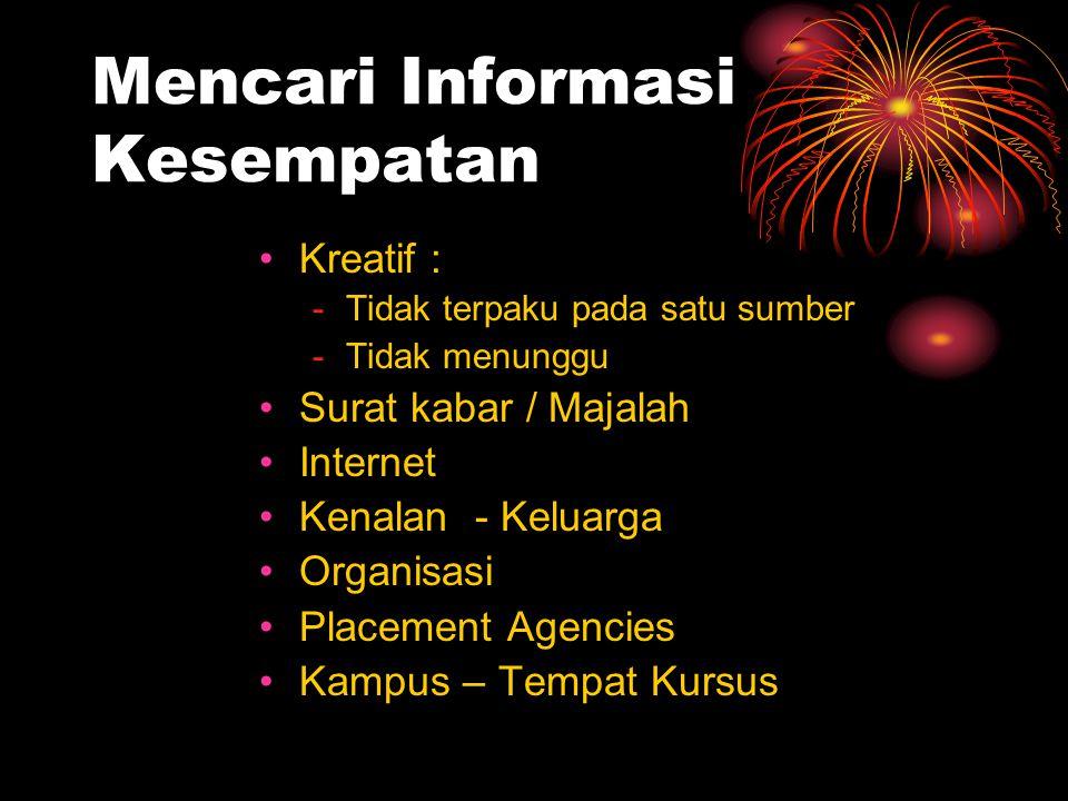 Mencari Informasi Kesempatan