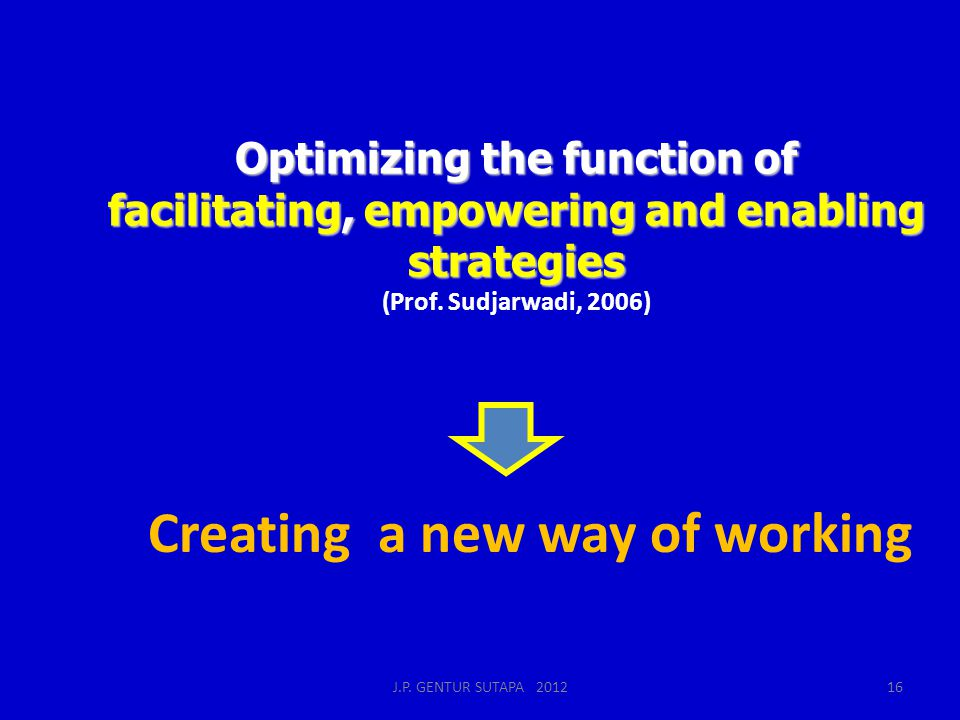Creating a new way of working