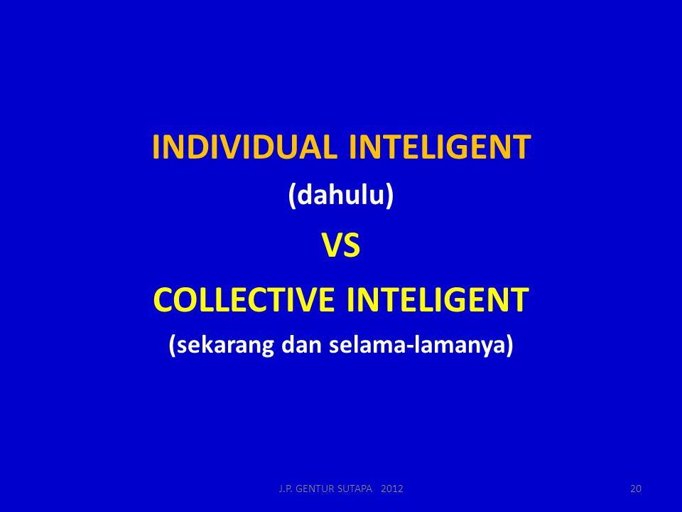 INDIVIDUAL INTELIGENT VS COLLECTIVE INTELIGENT