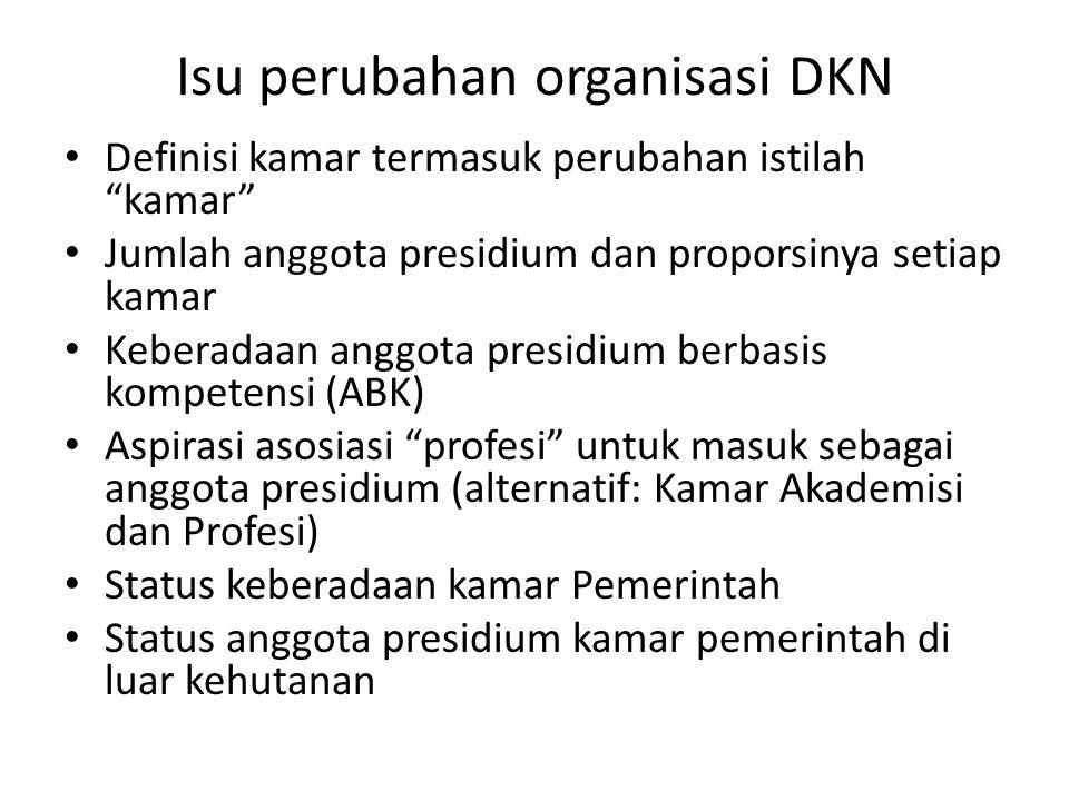 Isu perubahan organisasi DKN