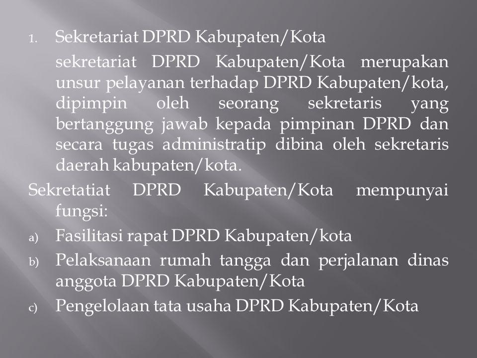 Sekretariat DPRD Kabupaten/Kota