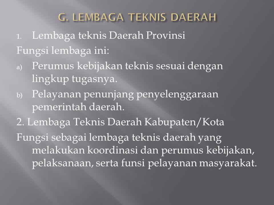 G. LEMBAGA TEKNIS DAERAH