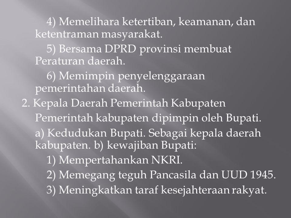5) Bersama DPRD provinsi membuat Peraturan daerah.