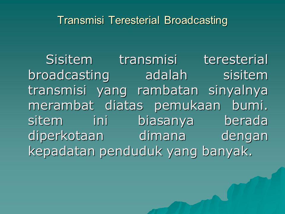 Transmisi Teresterial Broadcasting