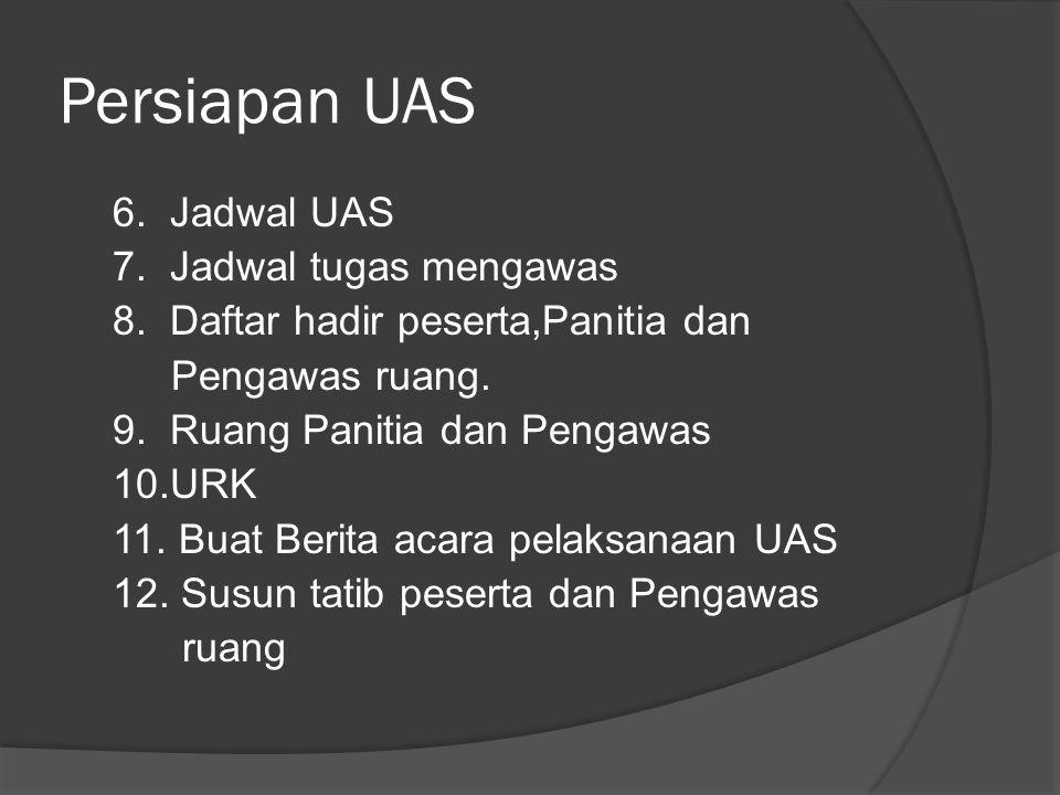 Persiapan UAS