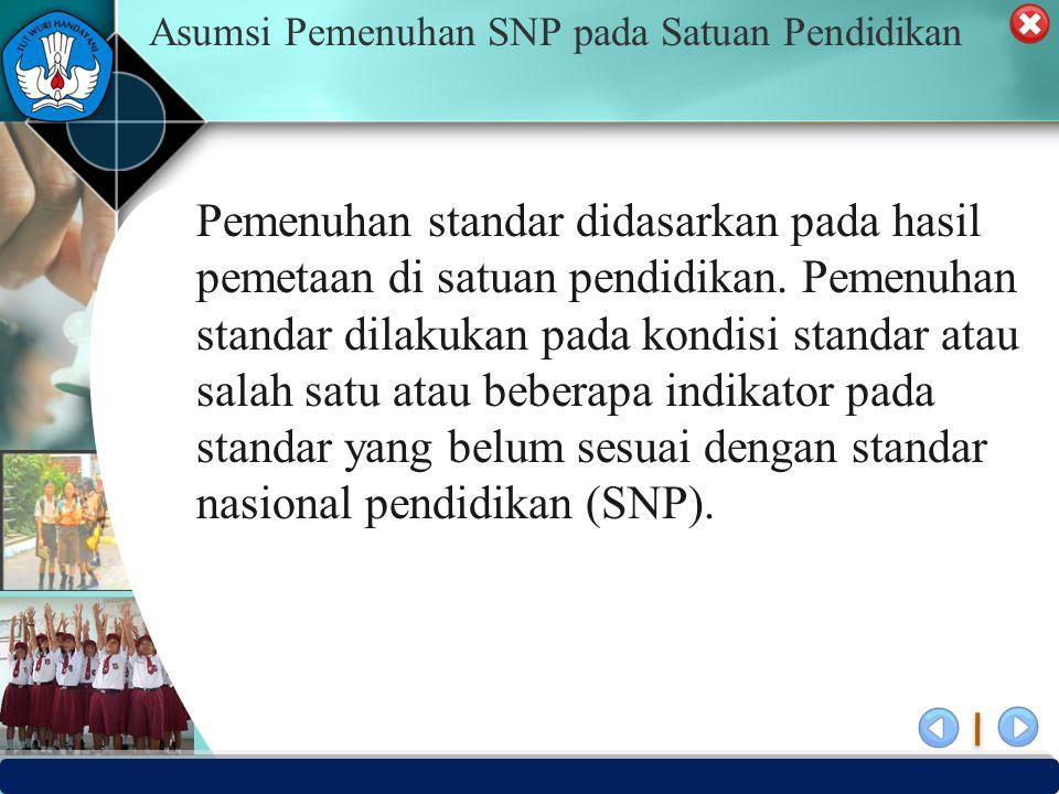 Asumsi Pemenuhan SNP pada Satuan Pendidikan