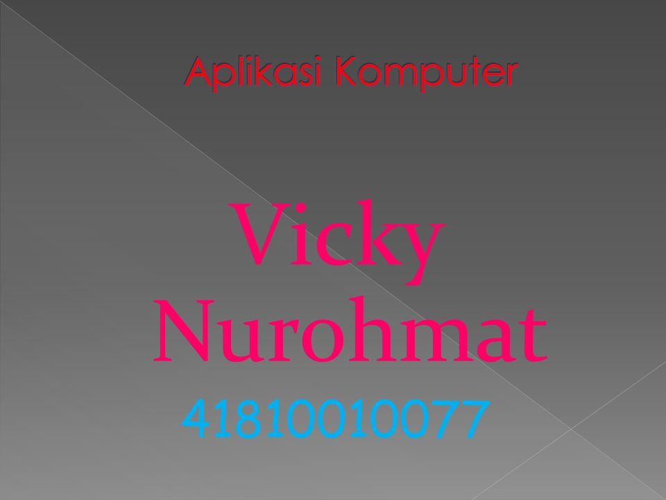 Aplikasi Komputer Vicky Nurohmat 41810010077