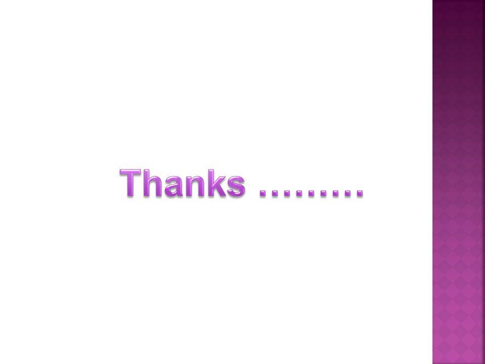 Thanks ………