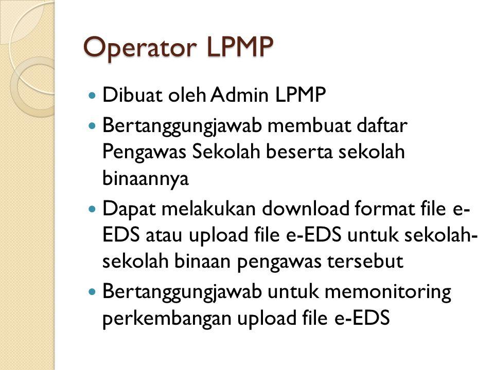 Operator LPMP Dibuat oleh Admin LPMP