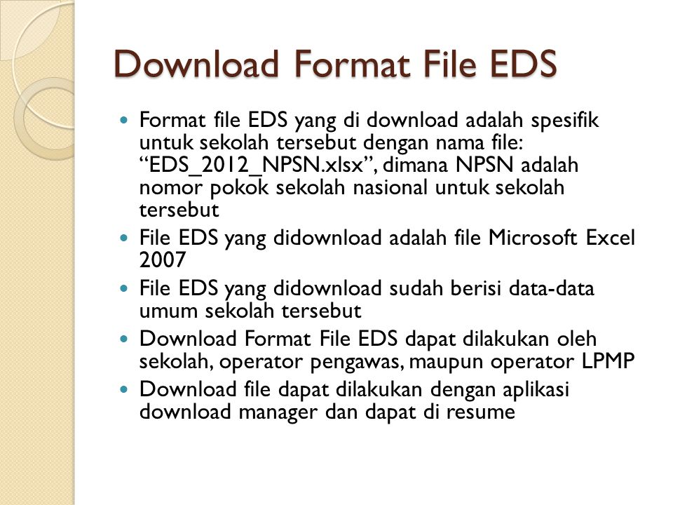 Download Format File EDS