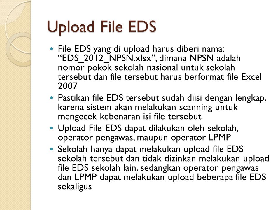 Upload File EDS