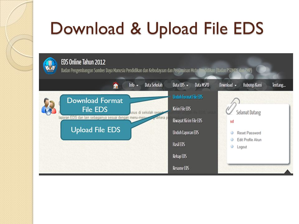 Download & Upload File EDS