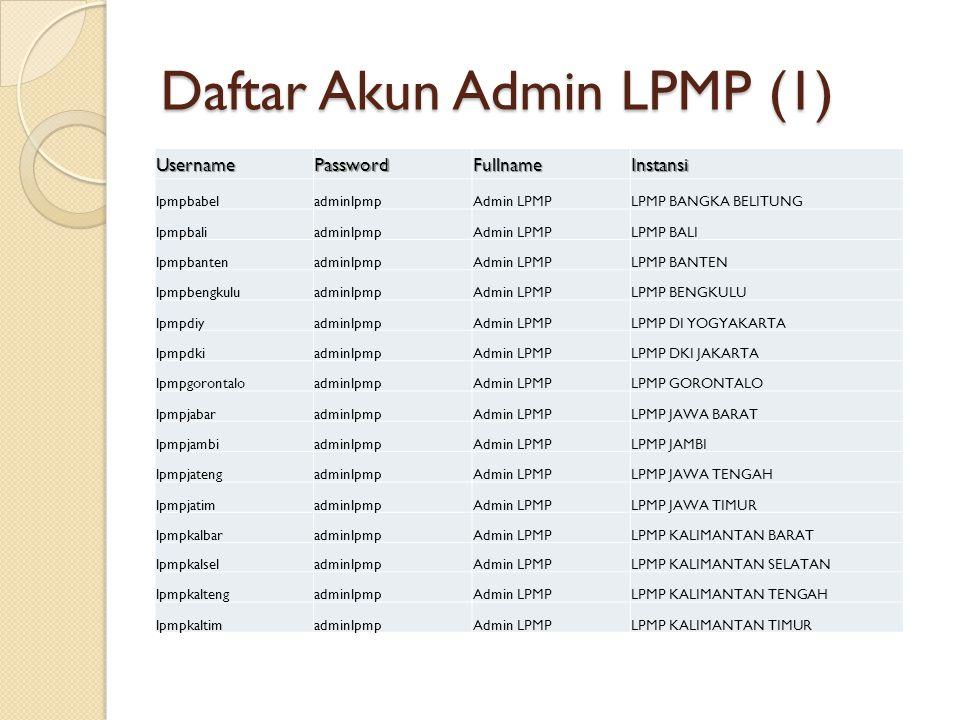 Daftar Akun Admin LPMP (1)