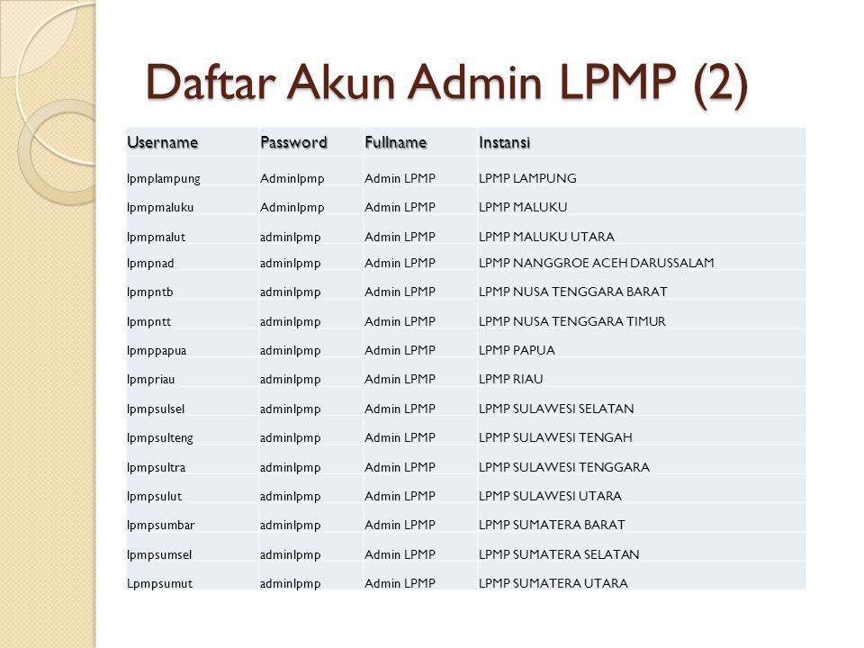 Daftar Akun Admin LPMP (2)