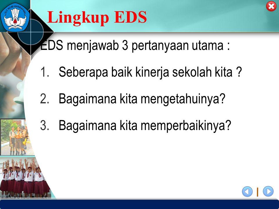 Lingkup EDS EDS menjawab 3 pertanyaan utama :