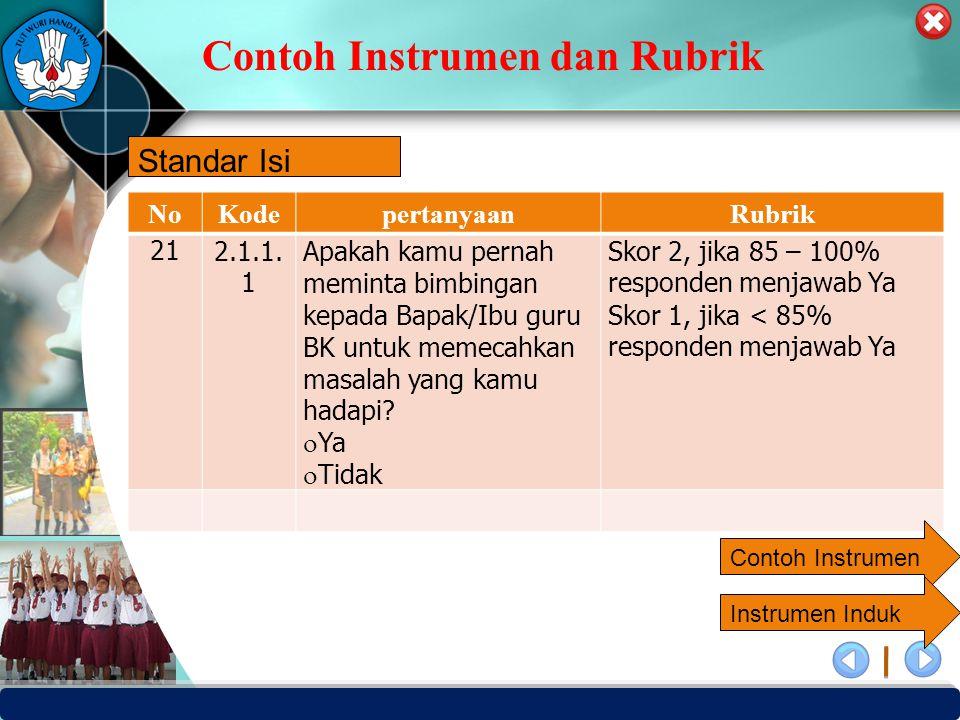 Contoh Instrumen dan Rubrik