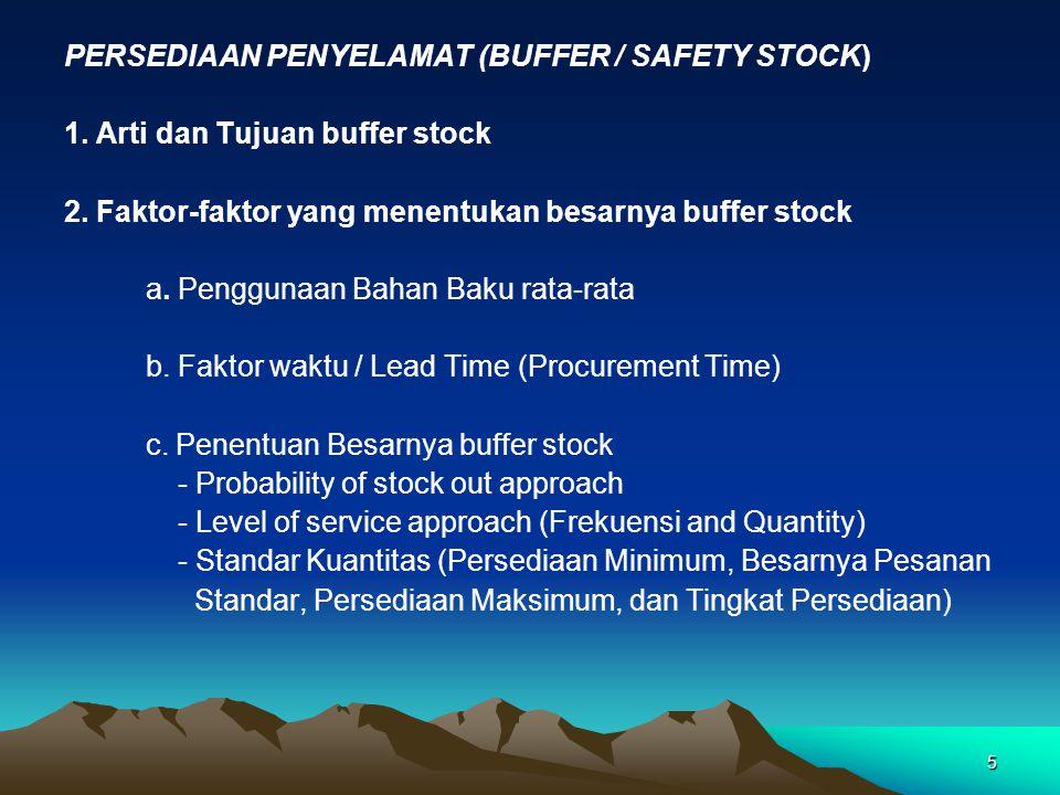 PERSEDIAAN PENYELAMAT (BUFFER / SAFETY STOCK)