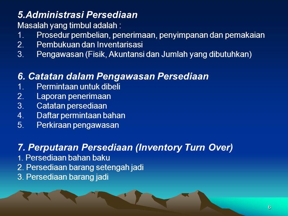 5.Administrasi Persediaan