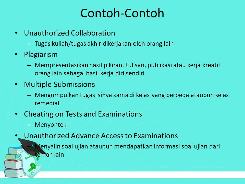 Contoh-Contoh Unauthorized Collaboration Plagiarism