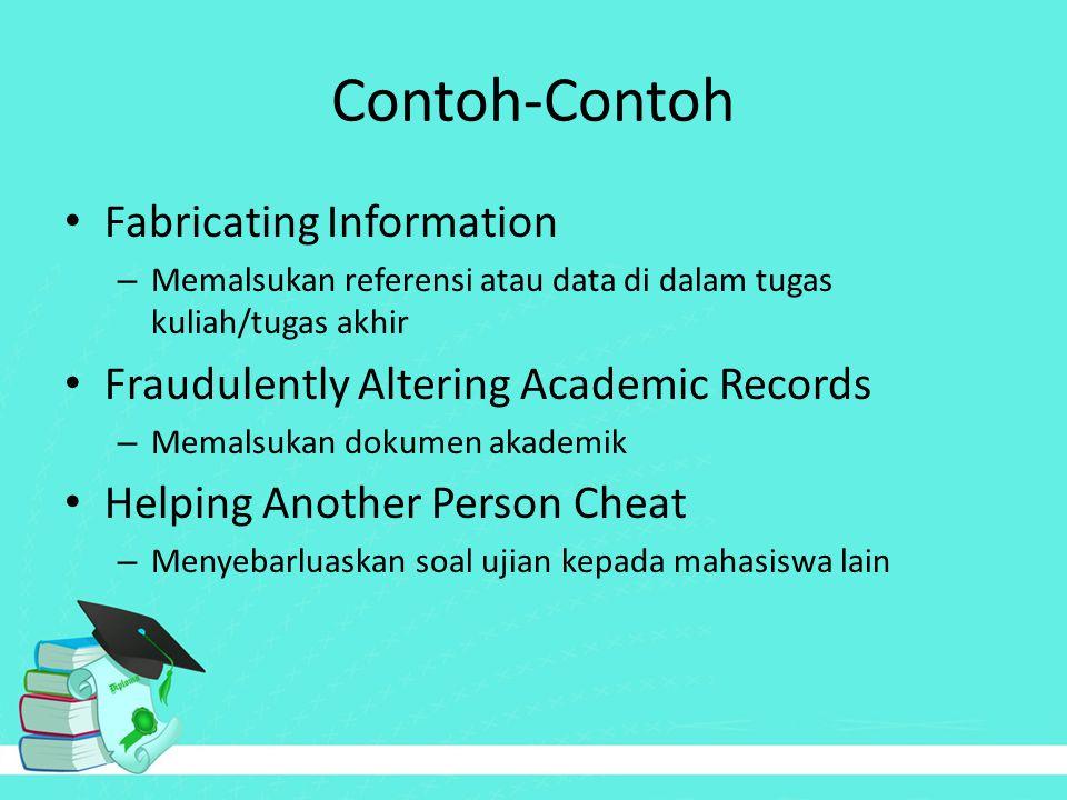 Contoh-Contoh Fabricating Information