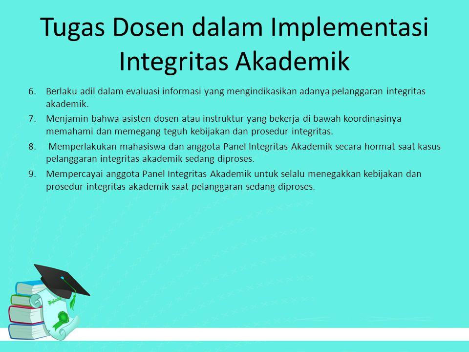 Tugas Dosen dalam Implementasi Integritas Akademik