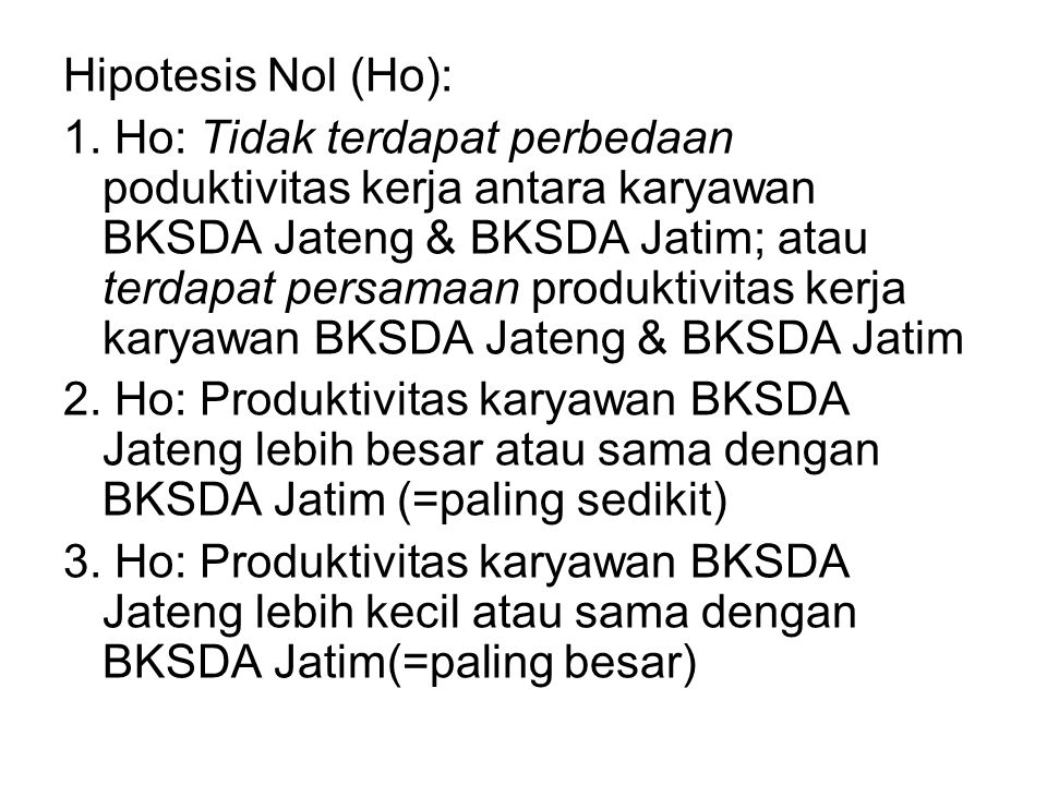 Hipotesis Nol (Ho):