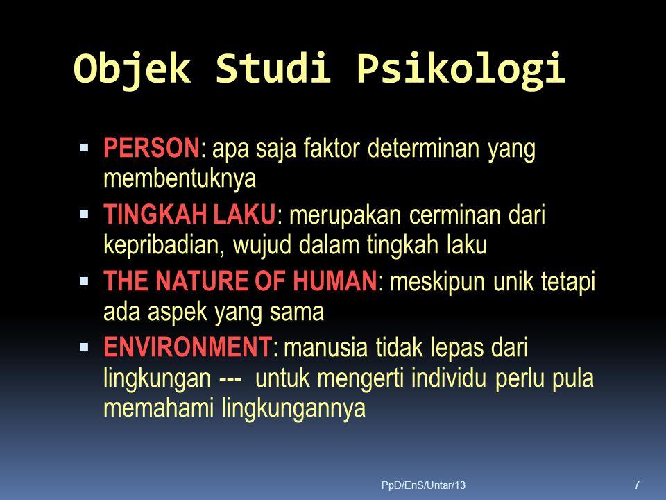 Objek Studi Psikologi PERSON: apa saja faktor determinan yang membentuknya.