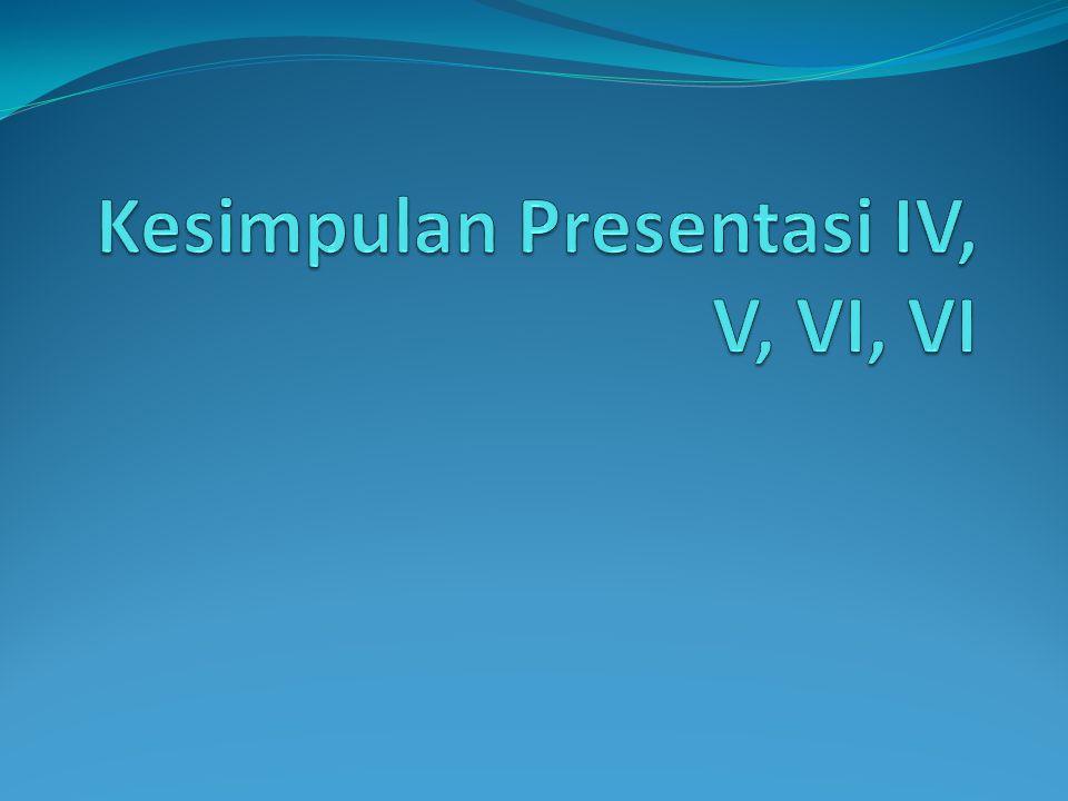 Kesimpulan Presentasi IV, V, VI, VI