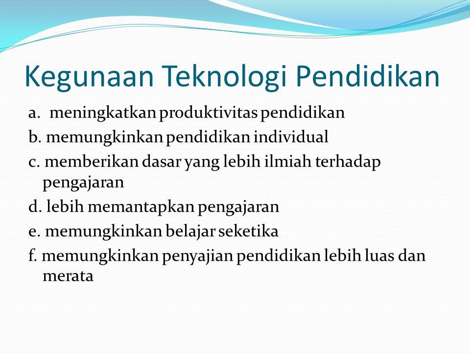 Kegunaan Teknologi Pendidikan