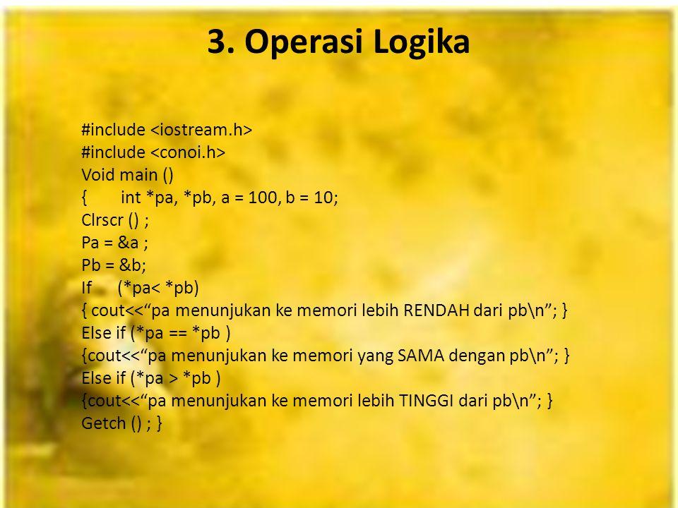 3. Operasi Logika
