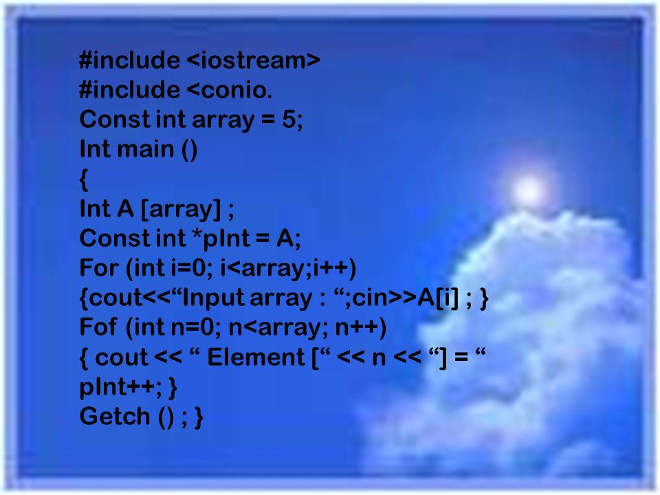 #include <iostream> #include <conio
