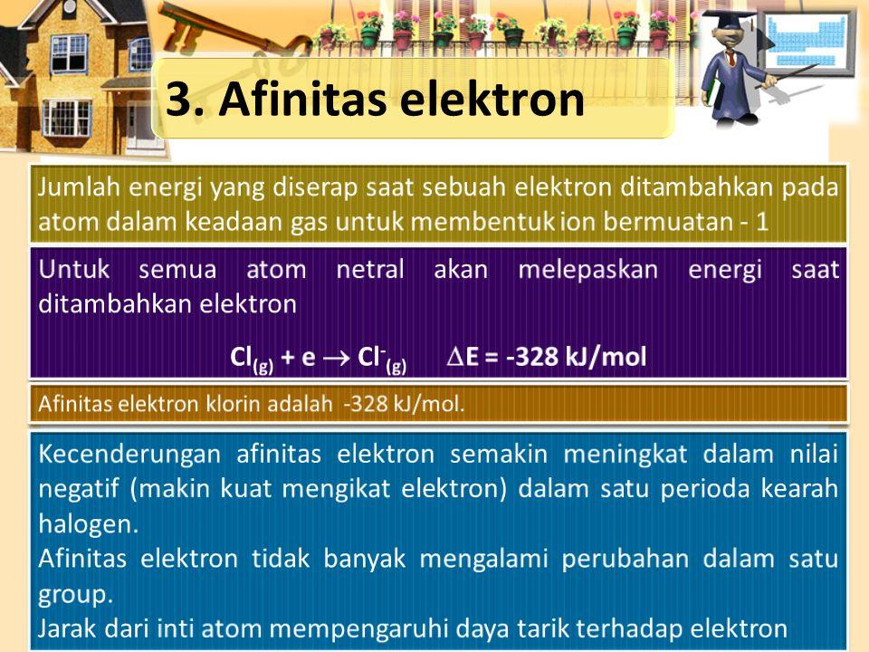 Cl(g) + e  Cl-(g) E = -328 kJ/mol