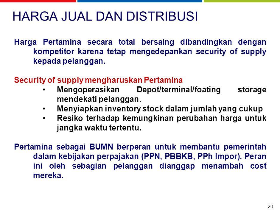 MUTU LAYANAN Pertamina bukan hanya menjual komoditi BBM untuk industri, namun menjual jasa memenuhi kebutuhan BBM secara lebih efektif dan efisien.